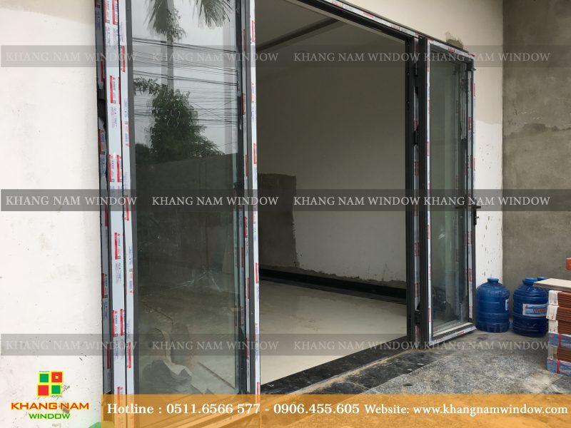 Cửa nhựa lõi thép do Công ty Khang Nam Window Đà Nẵng lắp đặt