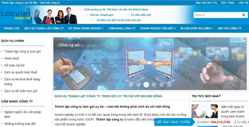 Website của Công ty Lạc Việt
