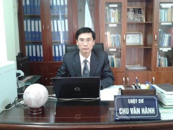 Luật sư Chu Văn Hành - Đại diện cho Công ty Luật Dân Việt