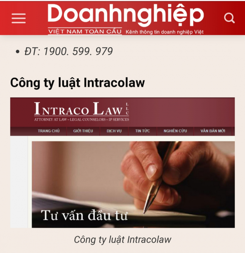 Công ty Luật Intracolaw