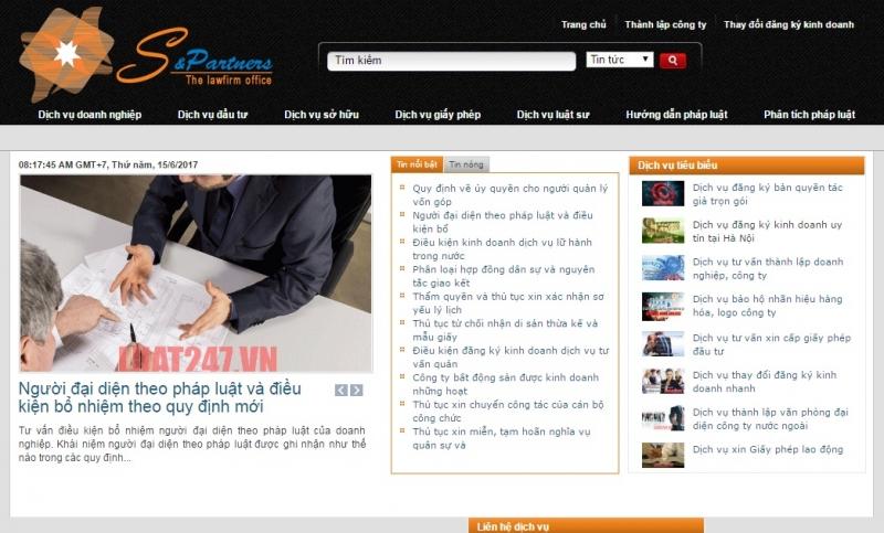 Website của Công ty luật Trí Nam