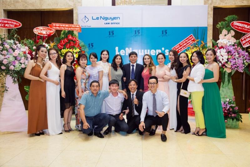 Lê Nguyễn kỷ niệm 15 năm thành lập (nguồn www.lenguyenlawoffice.com)