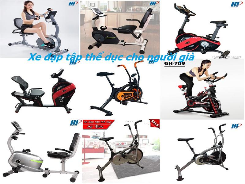 Một số mẫu xe đạp tập tại Thể thao Minh Phú