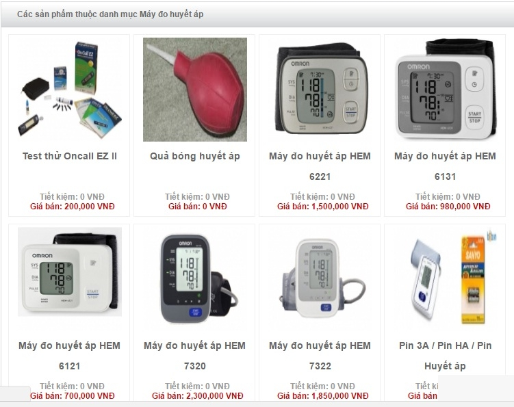Các sản phẩm máy đo huyết áp của Công ty thiết bị y tế 24h