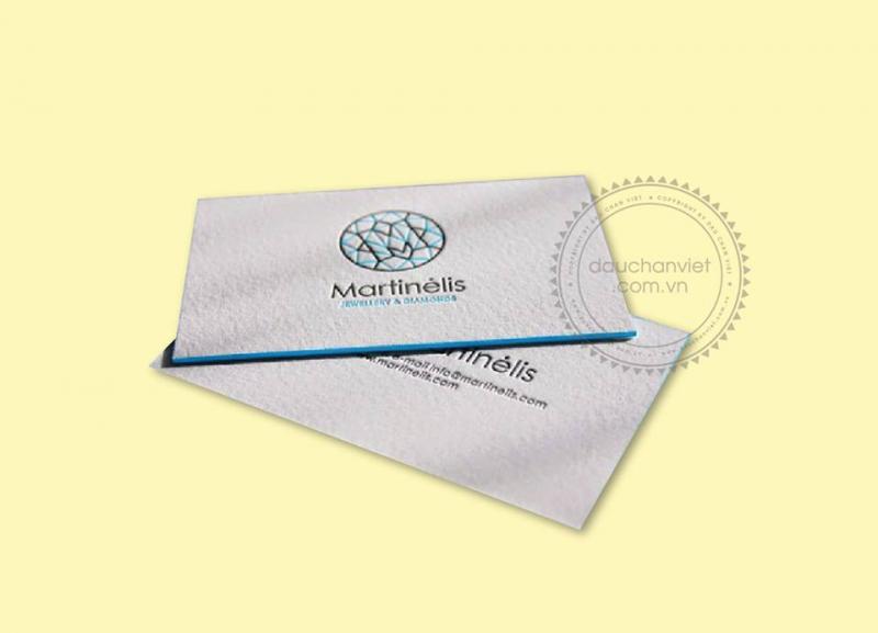 Công ty In ấn Dấu Chân Việt nhận thiết kế card visit theo ý tưởng hoặc dựng lại mẫu card visit mà khách hàng đã có.