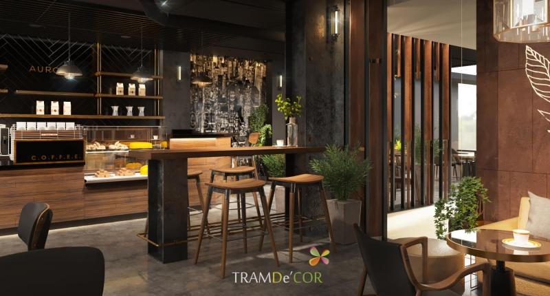 Một mẫu thiết kế quán cafe của Tramde'cor