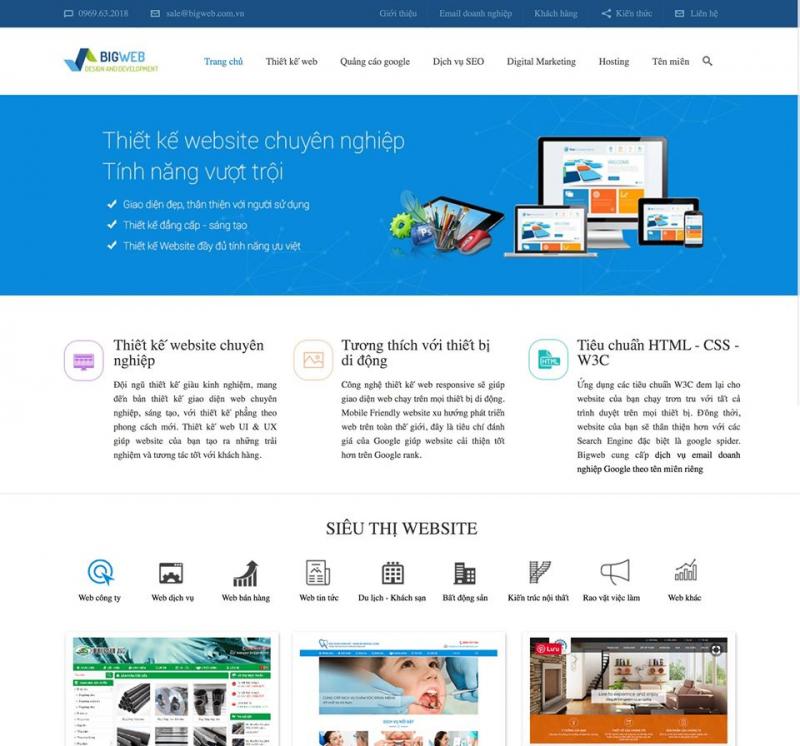 Công ty thiết kế website Bigweb