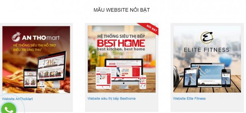 Một số những mẫu website nổi bật của Creative Việt Nam