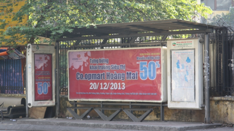 Quảng cáo nhà chờ xe bus của Song Long