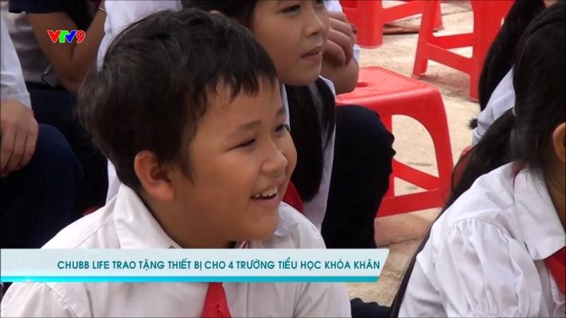 Chubb Việt Nam tặng thiết bị giáo dục cho các trường học