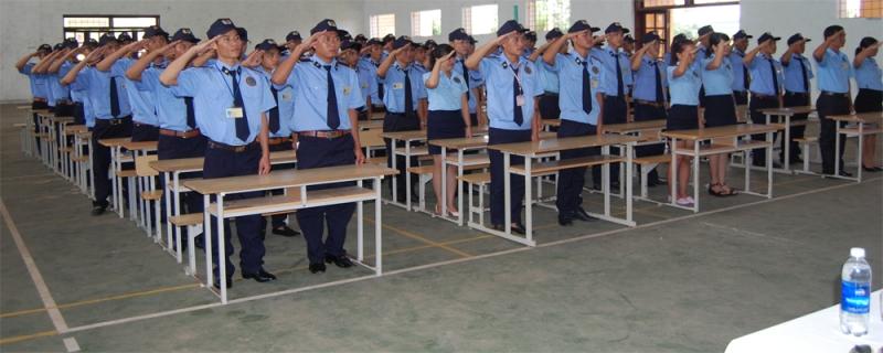 Khóa học nghiệp vụ của nhân viên công ty bảo vệ Phương Đông