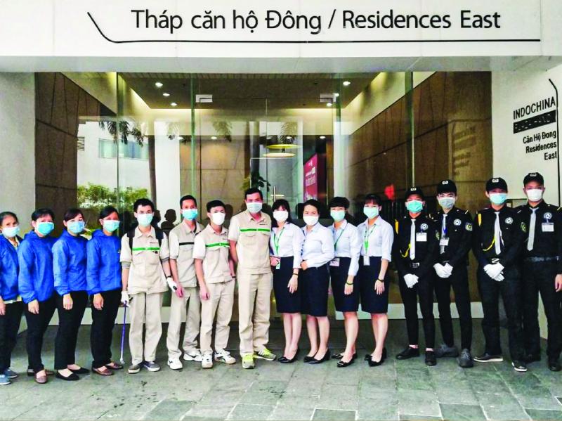 Các nhân sự được điều phối tại dự án quản lý tòa nhà