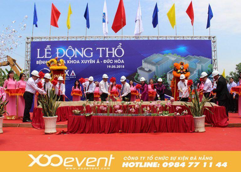Xoo Event đã từng đồng hành với nhiều chương trình tổ chức lễ khởi công, động thổ của các công ty hay nhà máy,