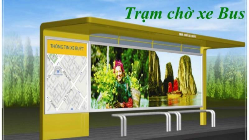 Mô hình quảng cáo nhà chờ xe bus