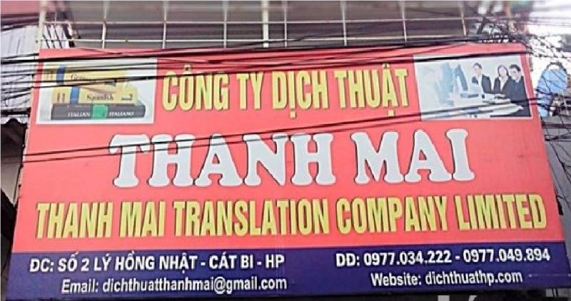 Địa chỉ Công ty Dịch thuật Thanh Mai