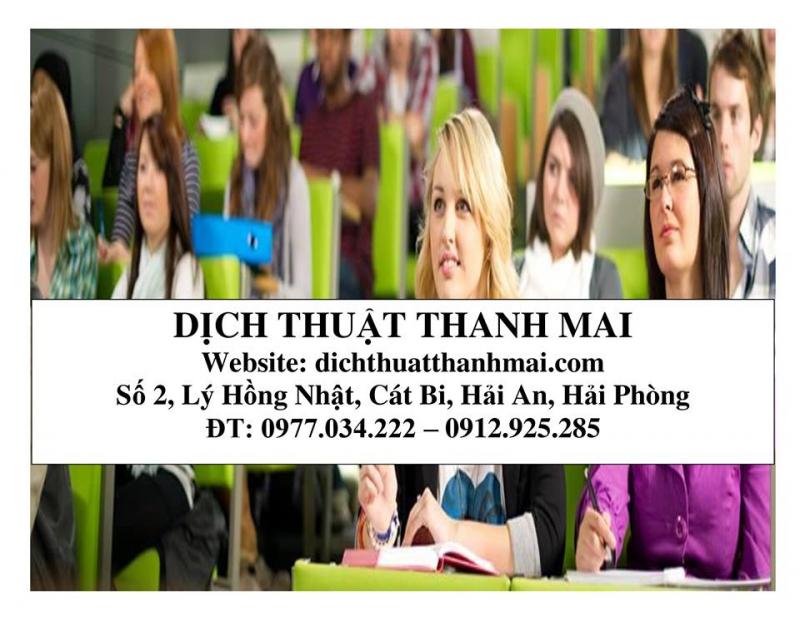 Công ty TNHH Dịch thuật Thanh Mai