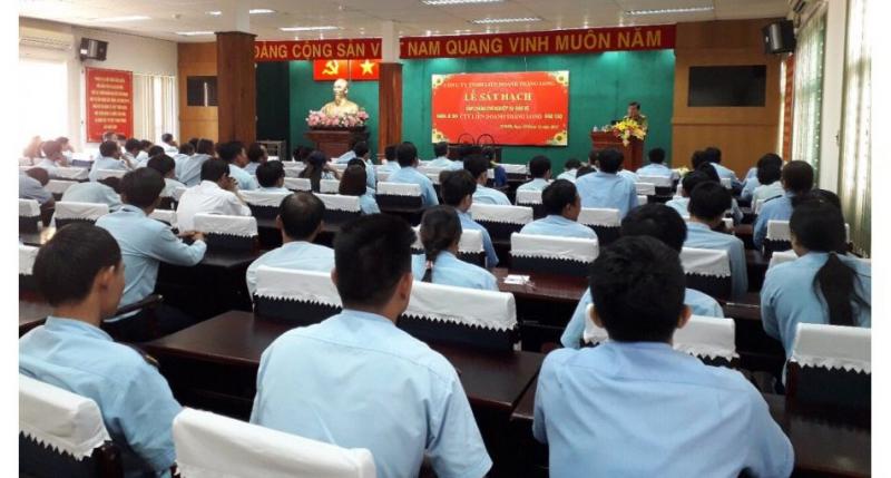 Lễ sát hạch nhân viên bảo vệ tại Công ty TNHH dịch vụ bảo vệ Liên Doanh Thăng Long