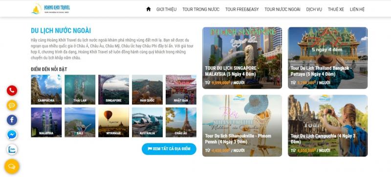 Công ty TNHH Dịch vụ Du lịch Hoàng Khởi