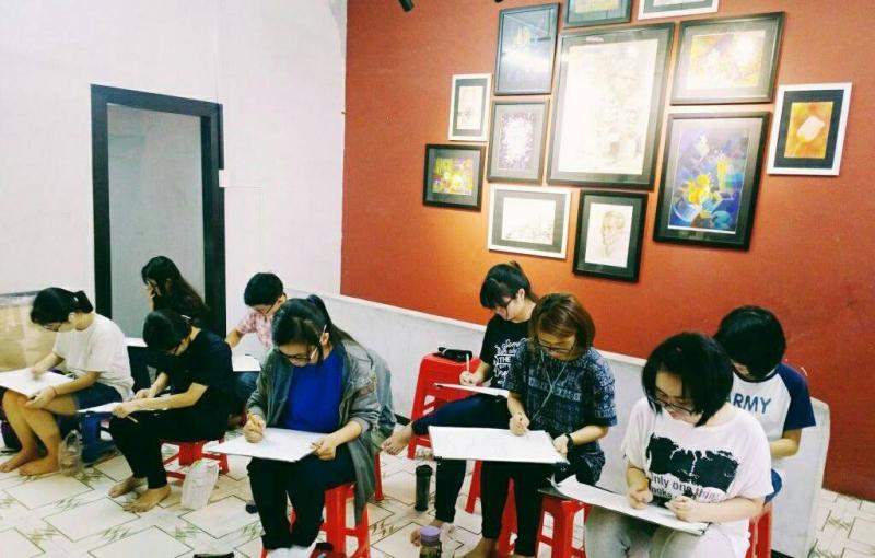 Học vẽ tại trung tâm Lê Nhất