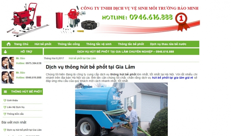 Công ty TNHH dịch vụ vệ sinh môi trường Bảo Minh