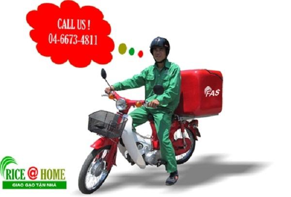 Dịch vụ giao gạo tận nhà của Công ty TNHH FAS Việt Nam
