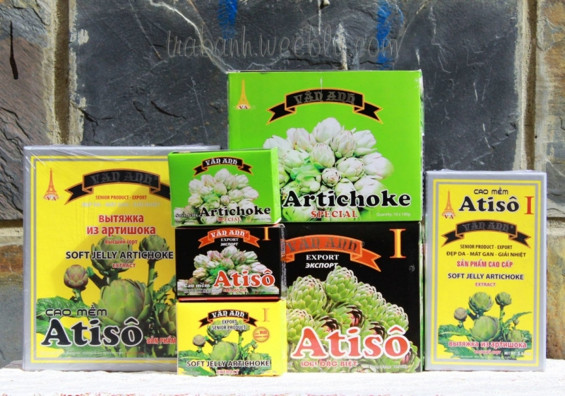 Các sản phẩm cao Atiso Vân Anh