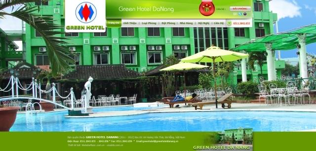 Trang web của Green Hotel do Vinabits thiết kế