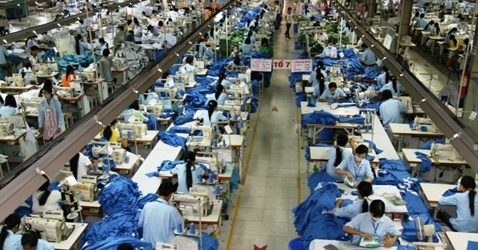 Xưởng may của công ty TNHH Hiệp Hưng