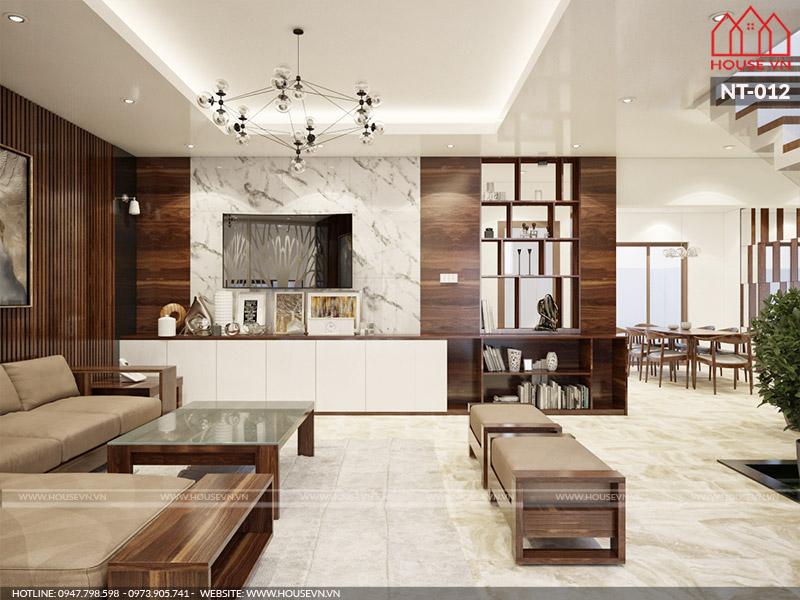 Kiến trúc phòng khách hiện đại của House.vn