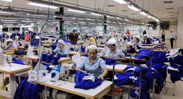 Công nhân công ty TNHH May Mặc Able Việt Nam