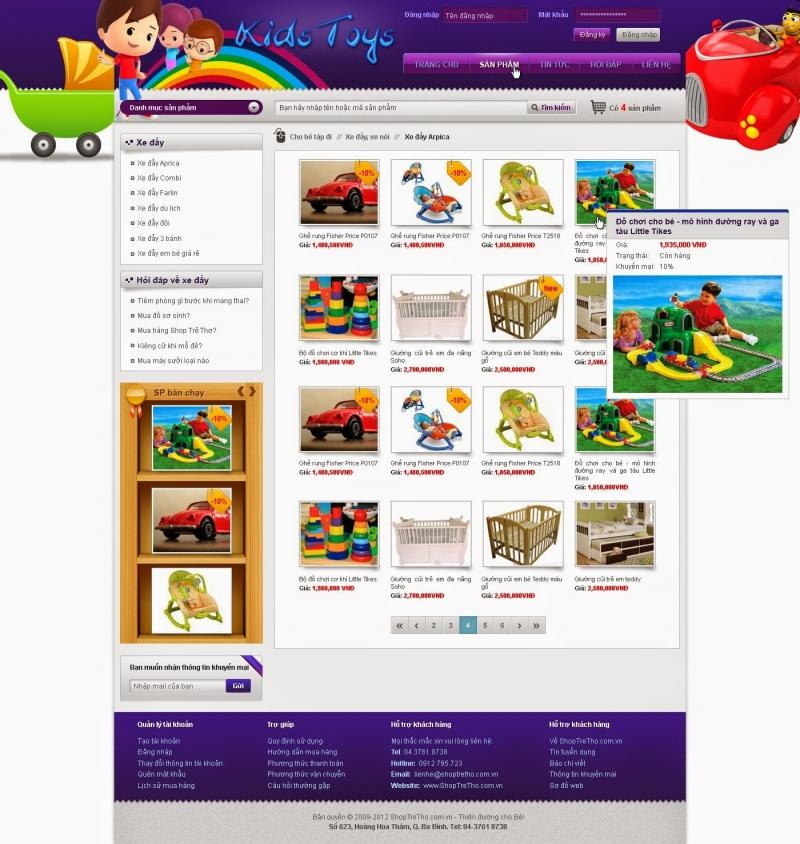 Thiết kế web đồ chơi trẻ em