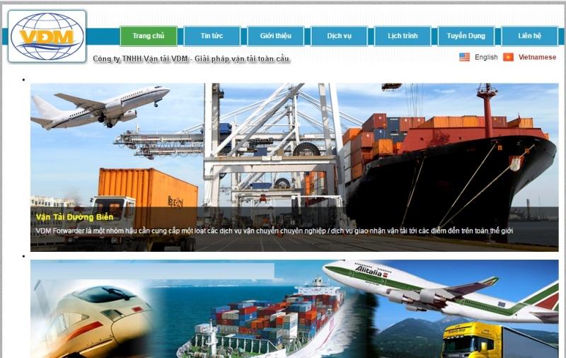 Website của Công Ty TNHH MTV Thương Mại Giao Nhận Vận Tải VDM