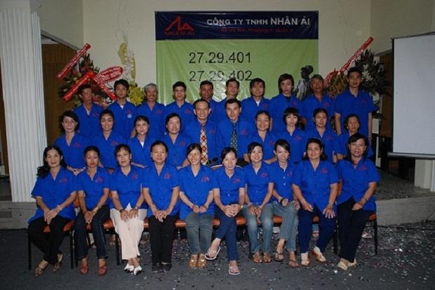 Hình ảnh ngày đầu tiên thành lập của công ty TNHH Nhân Ái