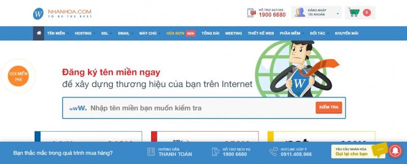 """Nhân Hòa là nhà đăng ký tên miền quốc tế trực thuộc ICANN tại Việt Nam và đồng thời là nhà cung cấp tên miền quốc gia """".VN"""" được VNNIC công nhận."""