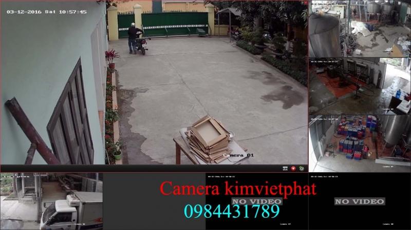Hình ảnh công ty Kim Việt Phát thi công lắp đặt camera cho công ty CP thương mại dịch vụ BÌNH YÊN - Dốc Asian Hòa Lạc - Thạch Thất - Hà Nộ
