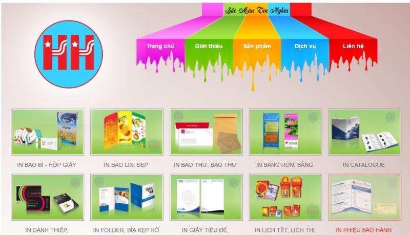 Trang web của công ty TNHH quảng cáo Hoàn Hảo