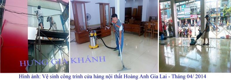 Dịch vụ vệ sinh công trình của Hưng Gia Khánh.