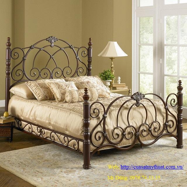 Giường ngủ sắt mỹ thuật - Một sản phẩm của Công ty TNHH thương mại và đầu tư Minh Dũng
