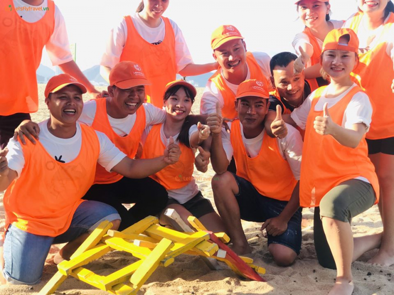 A team building event organized by the company
