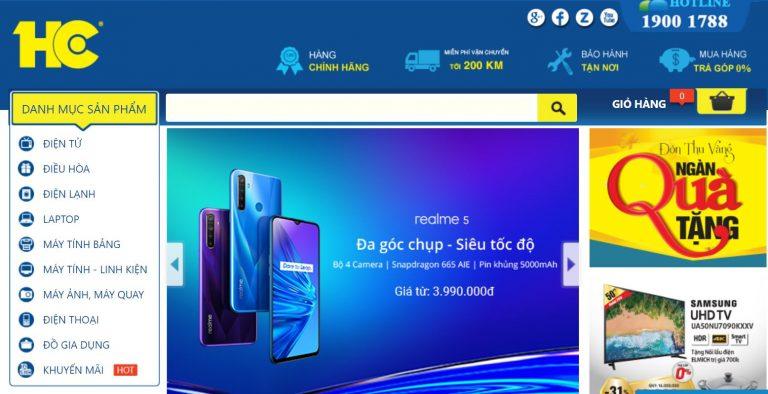 Website của Siêu thị điện máy HC