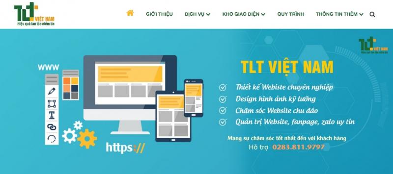 Website của Công ty TNHH TM & DV Công nghệ TLT