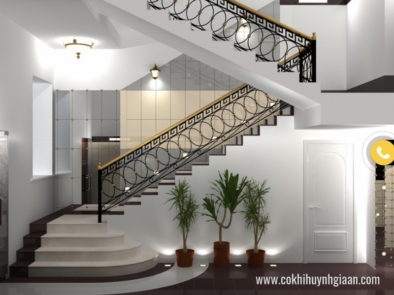Cầu thang sắt mỹ thuật - Sản phẩm của Công ty TNHH TM - ĐT Huỳnh Gia An