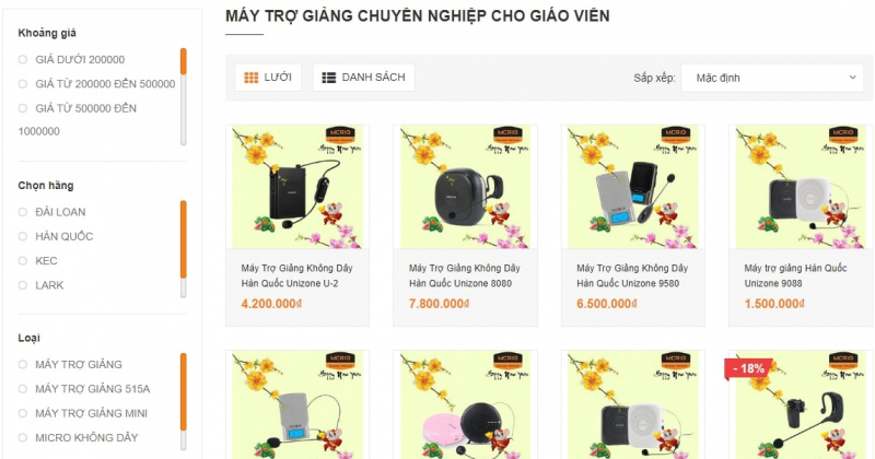 Top 10 địa chỉ bán máy trợ giảng uy tín nhất Hà Nội