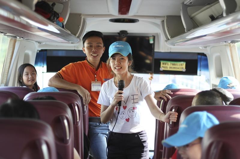 Hình ảnh hướng dẫn viên của Công ty du lịch Kinh Đô