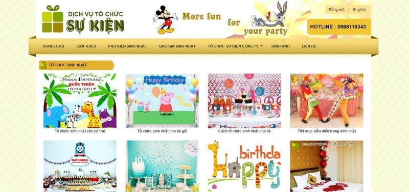 Công ty TNHH tổ chức sự kiện Eventday là đơn vị chuyên tổ chức tiệc sinh nhật uy tín tại Hà Nội