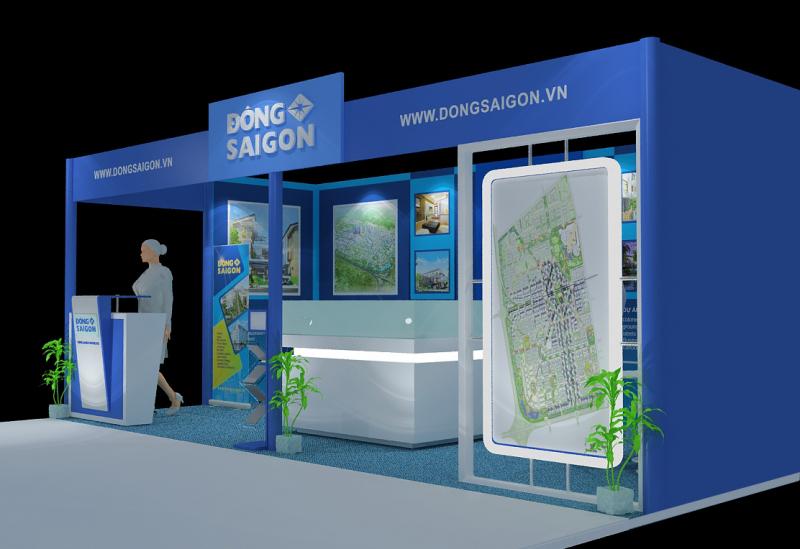 Gian hàng hội chợ dự án BDS của công ty Đông Saigon