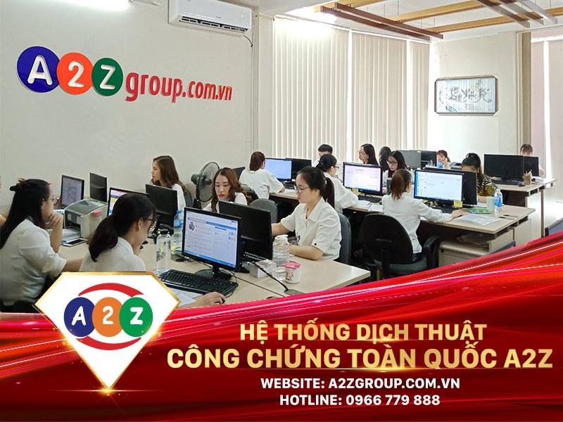 Công ty TNHH Tư vấn & Dịch thuật A2Z