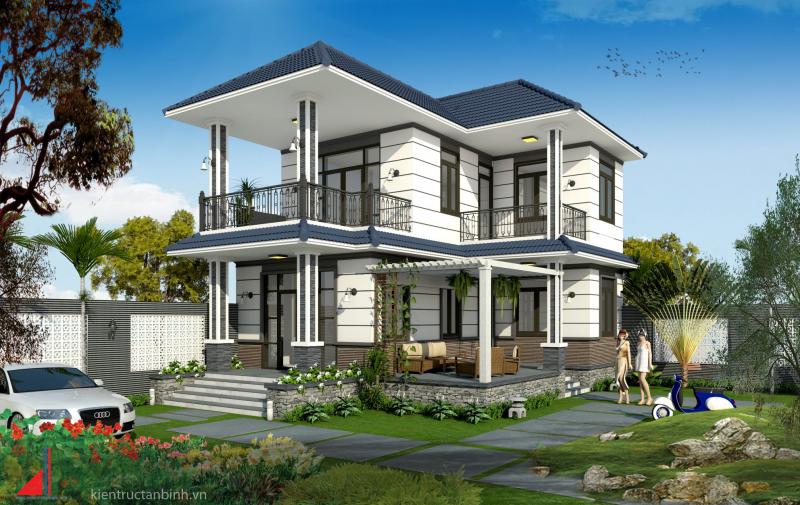 Một thiết kế biệt thự của Công ty TNHH TV TK XD Tân Bình