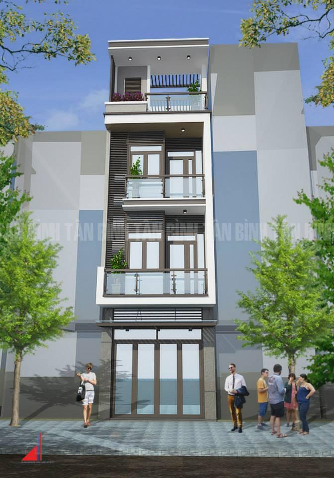 Một thiết kế nhà phố của Công ty TNHH TV TK XD Tân Bình