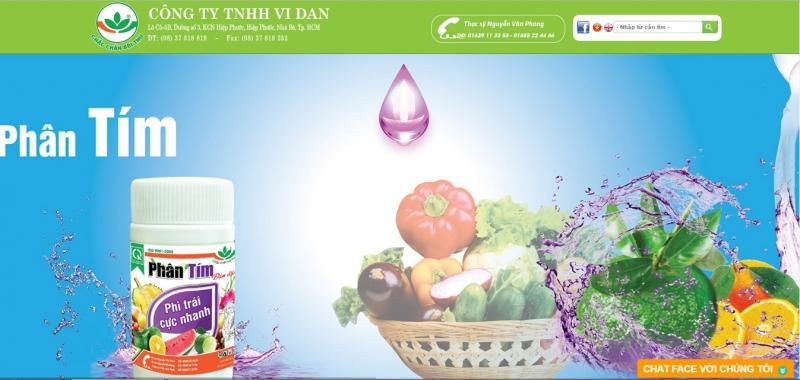 Website của Công Ty TNHH ViDan